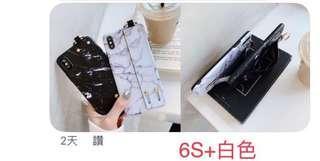 白大理石手機殼(6s+