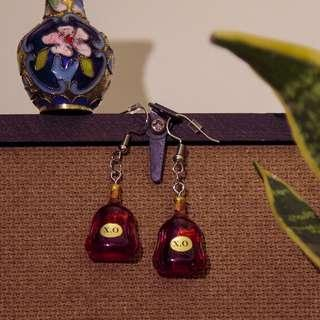 🚚 XO Bottle Alcohol Dangle Earrings / Yam Seng