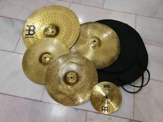 5 Cymbals with Bag-Zildjian, Meinl