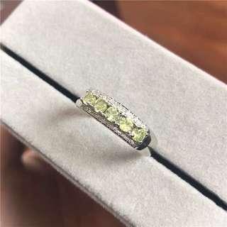 🚚 Olivine Green Crystal Ring