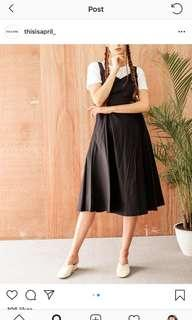 This is april black casual dress