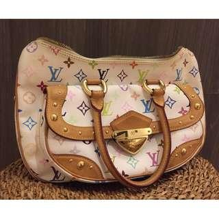 Authentic Louis Vuitton White Multicolore Monogram- Pita Bag