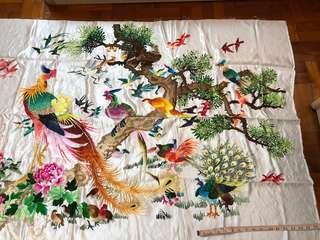 传统布吊 手工制作 锋 画