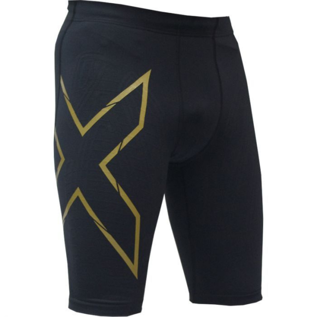 ebbe28162ed4c 2XU Men's Elite MCS Compression Run Shorts - Black/Gold Size L ...