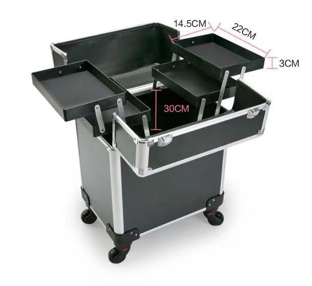 4 Wheels Organiser Professional Storage Trolley Bag For Makeup