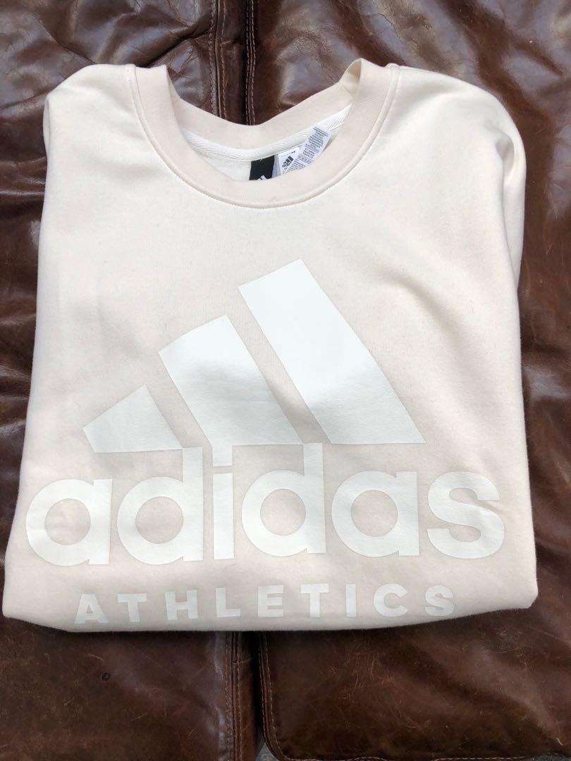 Adidas beige crew neck sweater