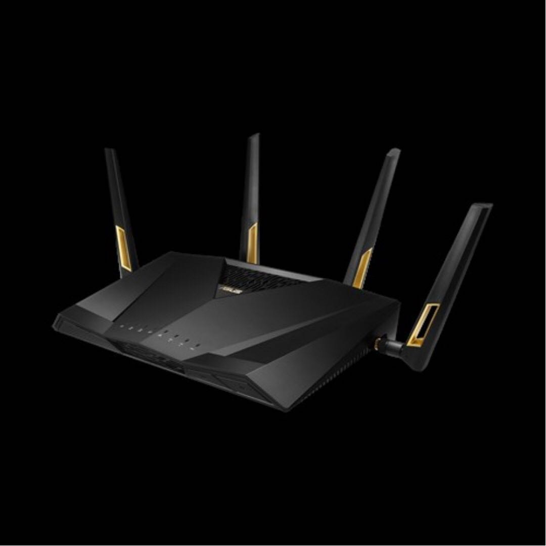 Asus RT-AX88U AX6000 Dual Band WiFi 6 (802 11ax) Router supporting MU-MIMO  and OFDMA technology, with AiProtection Pro network security powered by