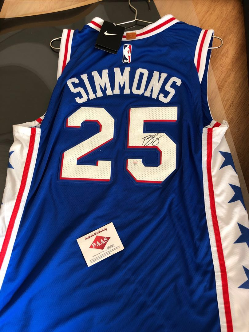 dbdc6e6a61e Ben Simmons 簽名球衣, Sports, Athletic & Sports Clothing on Carousell