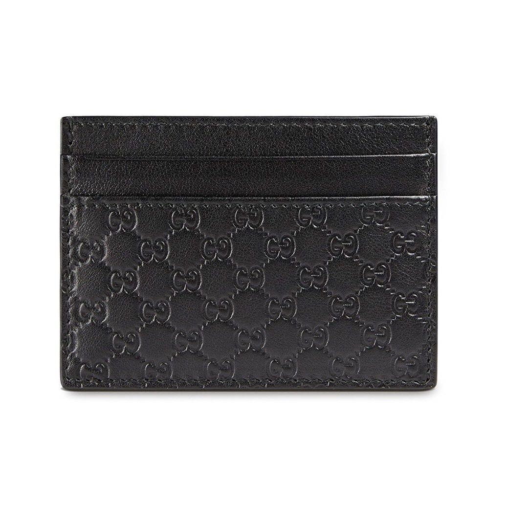 7526bf37ad9 BRAND NEW Gucci Mens Micro Guccisima Card Holder (Black)