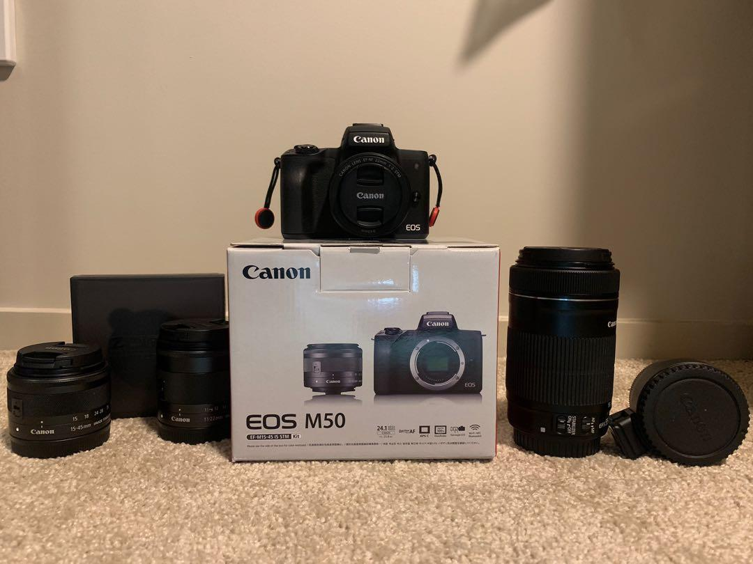 Canon m50 and accessories