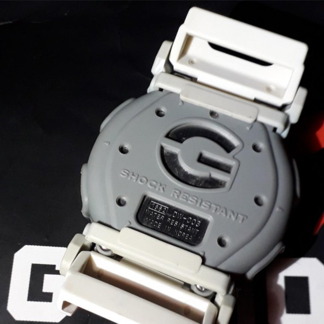 Casio G-Shock DW-003 C-7. White/Gray Double Wrap Velcro