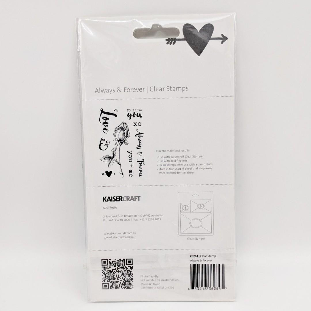 Clear Stamp Set - Kaiser Craft - Forever and Always