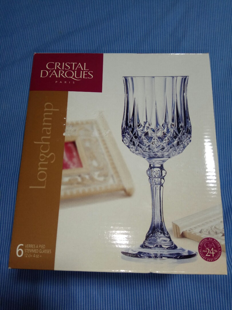 Cristal Darques Verres.Cristal Darques Paris Longchamp Crystal 4oz Crystal Wine Glasses 4 Sale