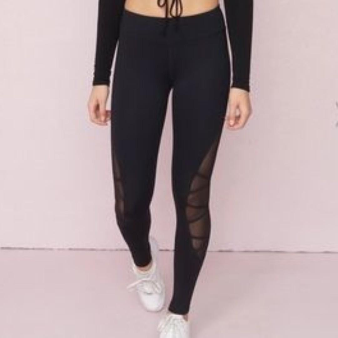 Garage Lace Up  Active Leggings -size Small
