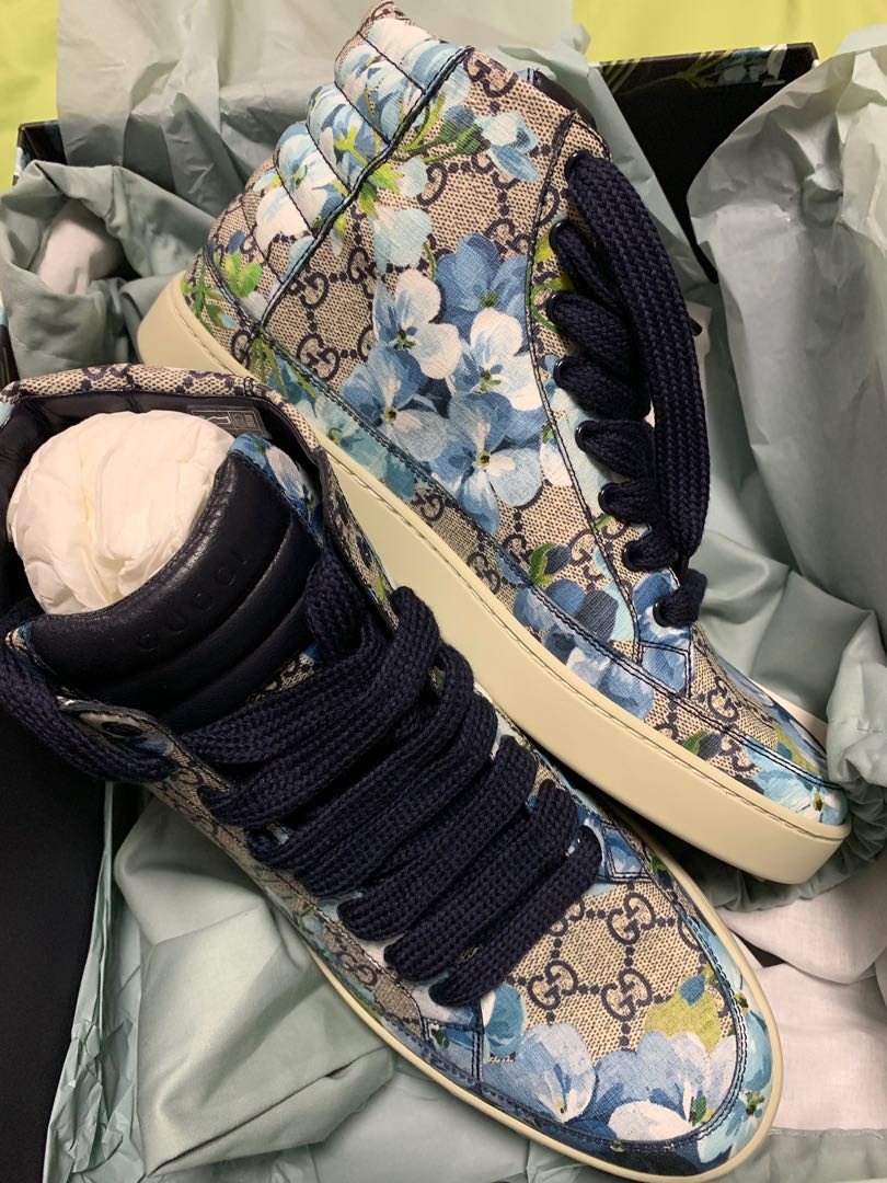 be5423e43 Gucci high cut sneakers, Men's Fashion, Footwear, Sneakers on Carousell
