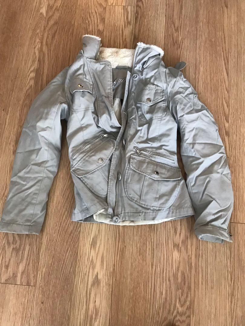 Guess grey coat fall/winter-size S
