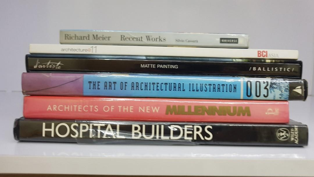 Hard bound books about Architecture take all for P2000