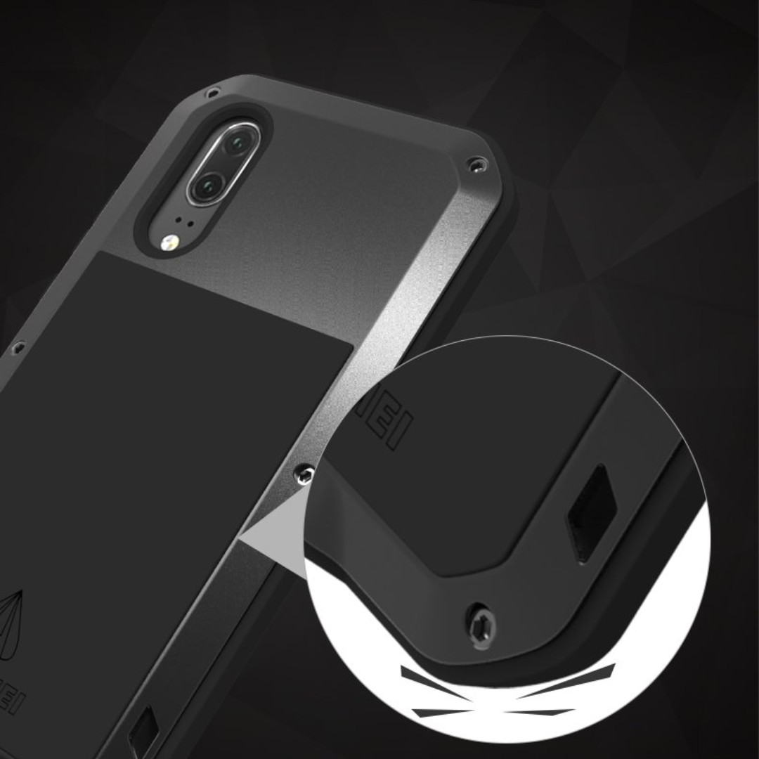 differently 5534f bea82 Huawei P20 Pro Shockproof Case, Love Mei Armor Tank Waterproof Shockproof  Dust/Dirt/Snow Proof Heavy Duty Hybrid Aluminum Metal Tempered Glass Case  ...