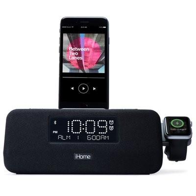 wholesale dealer 4aa10 833dc iHome iPLWBT5 Apple Watch & iPhone Charging Dock + Bluetooth Clock Radio