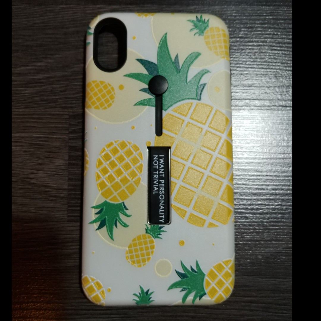 premium selection a80ef f8a16 iPhone Xs Max Pineapple Stand Case Cover