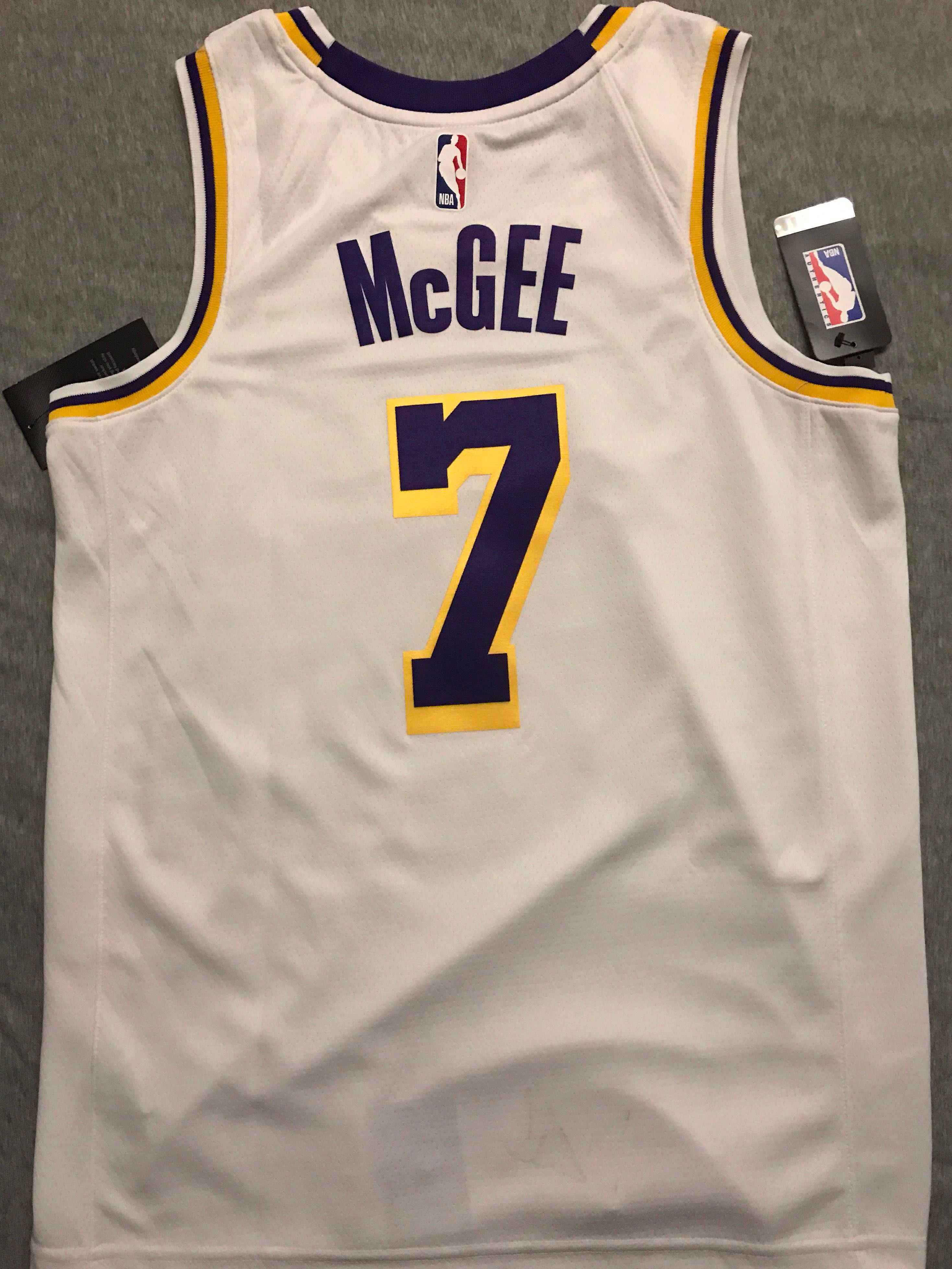 timeless design 9e537 12f0b Javal McGee Lakers swingman jersey