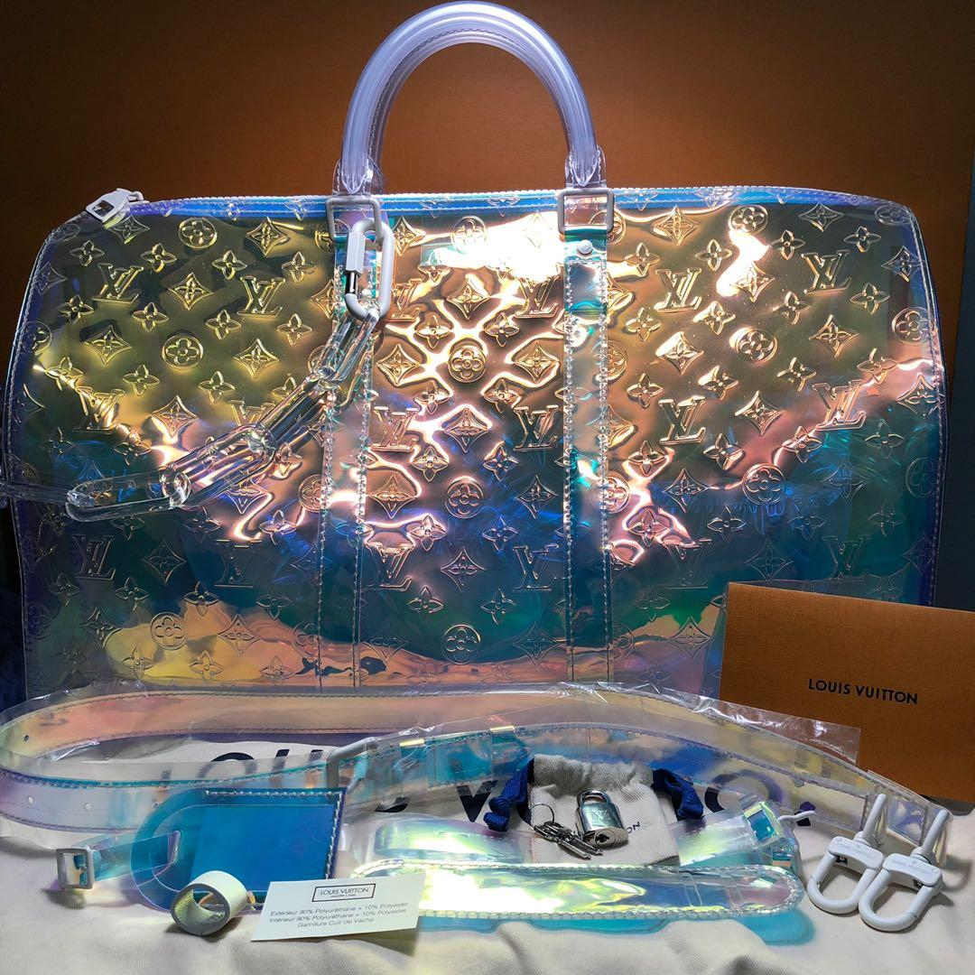 f00307b9057 Louis Vuitton Prism Keepall Monogram Bandouliere 50 Iridescent ...