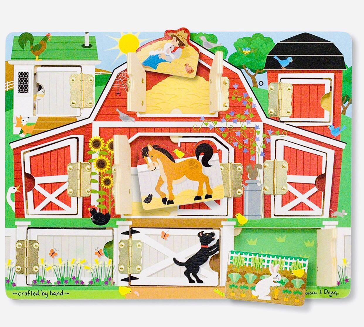 Hide Farm Melissaamp; Doug Seek Board And Wooden Activity With 0P8nwOk