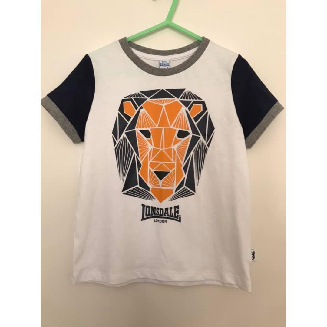 New with tags Size 4 Boys Lonsdale TShirt Tee Lion