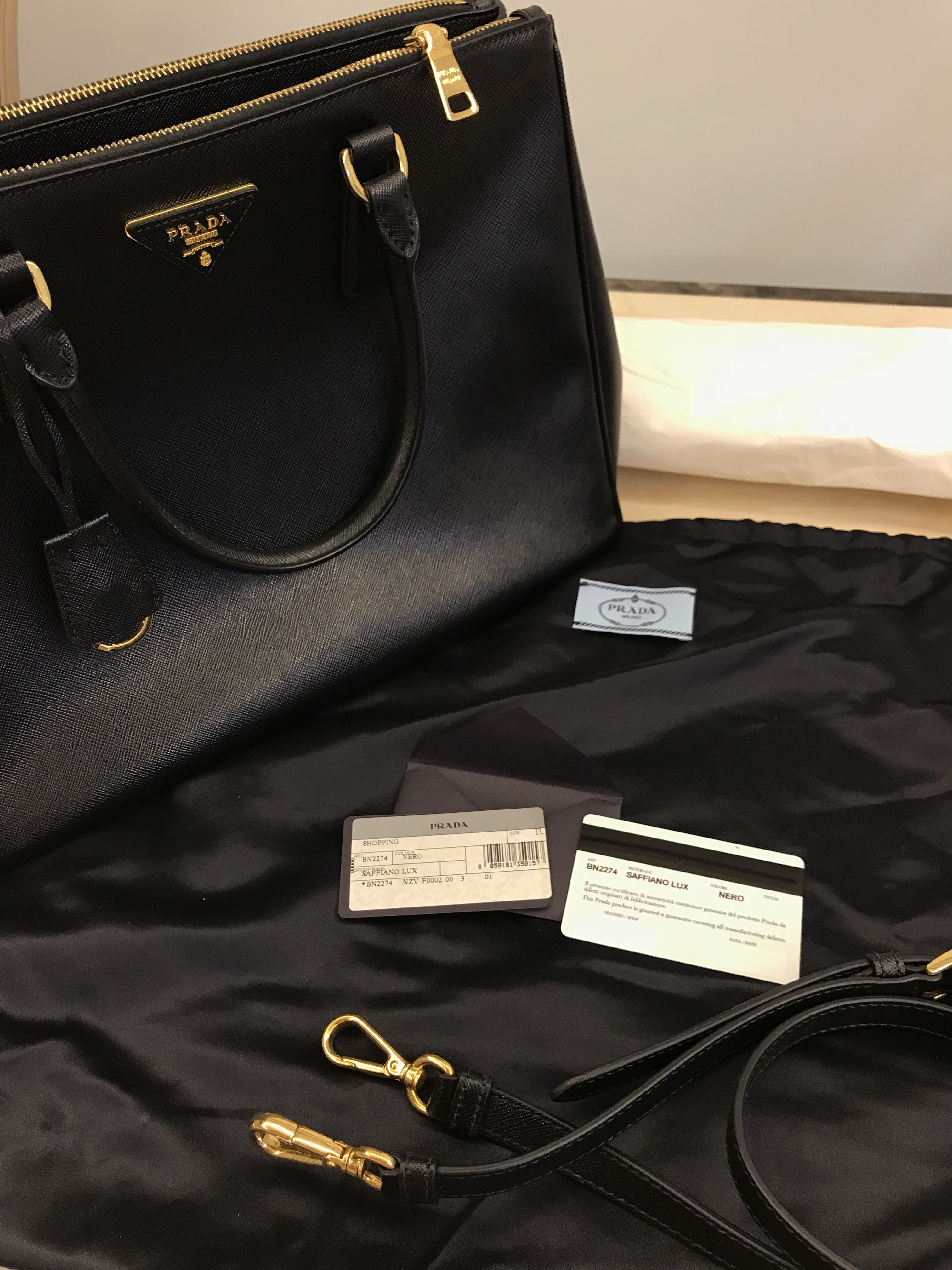 a2e99df948af Prada Saffiano bag 28cm, Luxury, Bags & Wallets, Handbags on Carousell