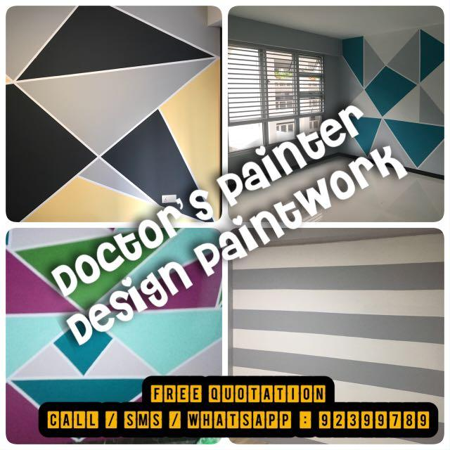 Professional Painting Services! Free momento/geometrical design! Free waterbased sealer! Professional workers!