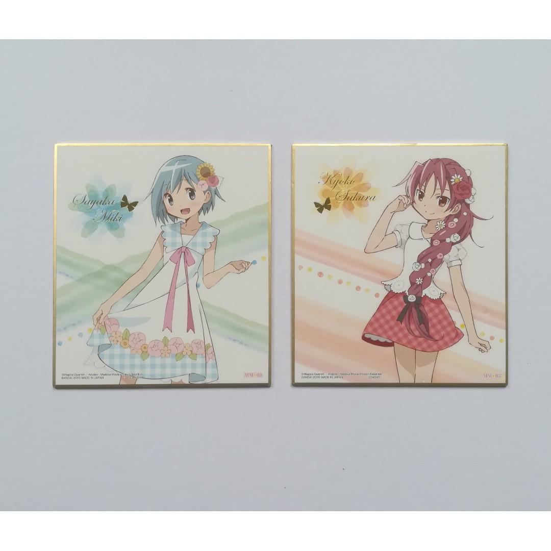 Puella Magi Madoka Magica the Movie: Rebellion - Sayaka Miki / Kyoko Sakura - Mini Shikishi / Mini Autograph Board