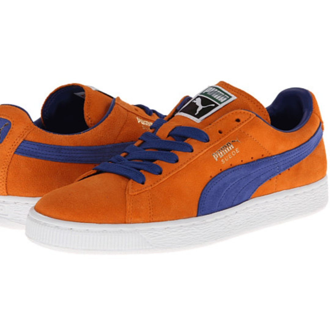 reputable site 42eb0 701ab Puma Suede orange/blue