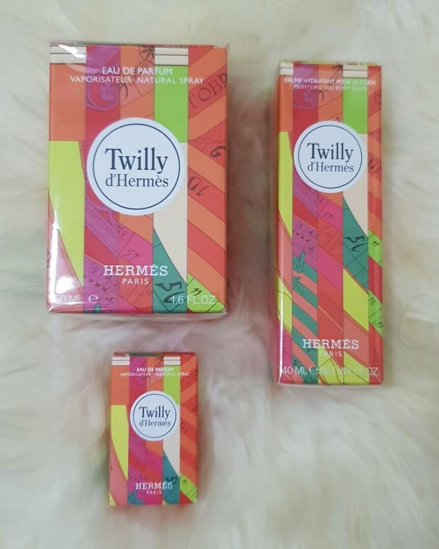 Ready Hermes Twilly Perfume 50ml -40 my Dan Lotion  d'Hermes 1 set (without the red box)