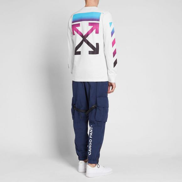 6a9093559684 SALE  off-white diagonal gradient long sleeve tee