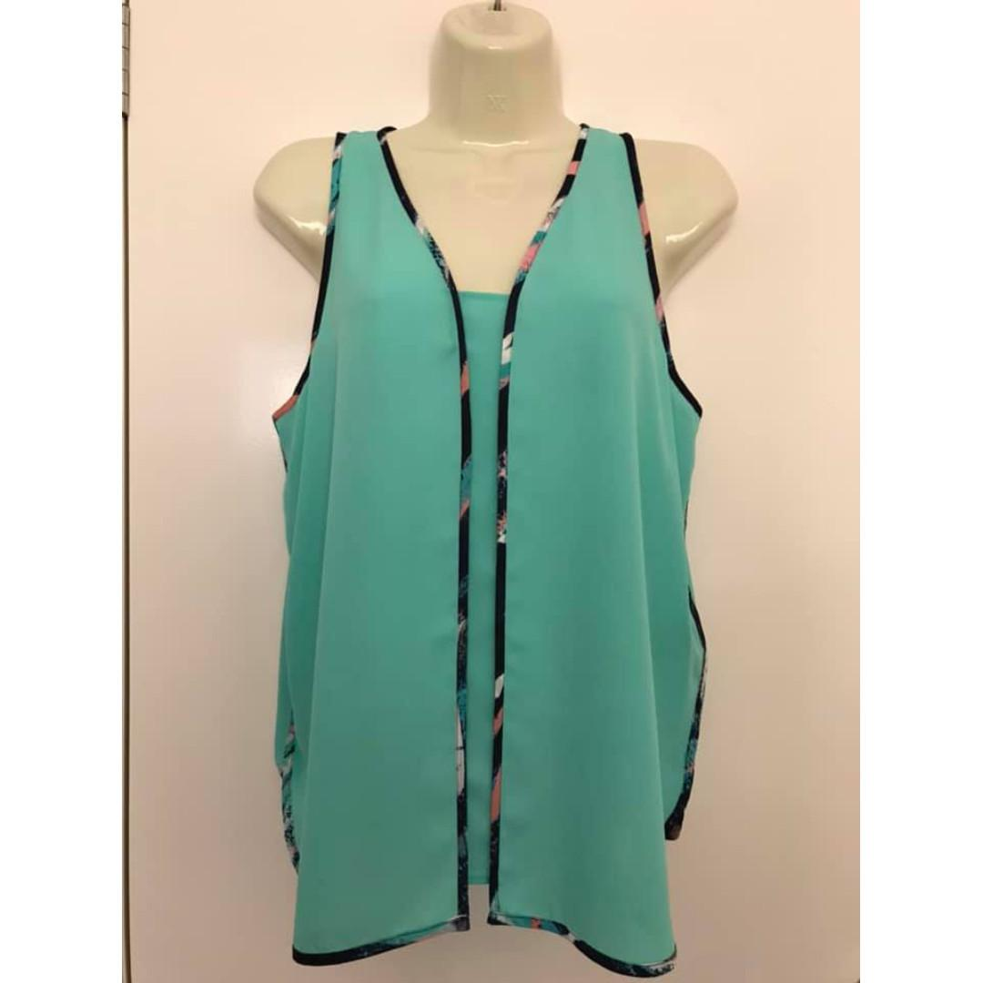 Size 12 Dannii Minogue Petites As new slightly sheer sleeveless top
