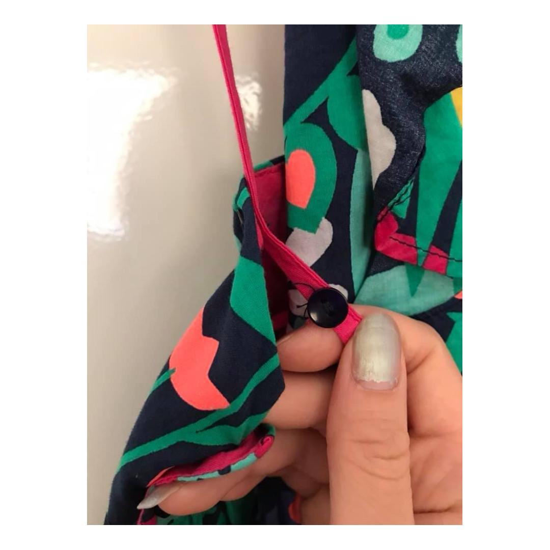 Size 8 Girls Euc Jack & Milly floral garden crossover back design dress