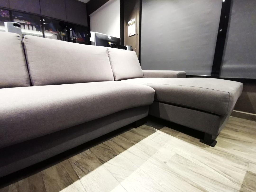 3 Seater with 1 long chaise (Left) Fabric Sofa