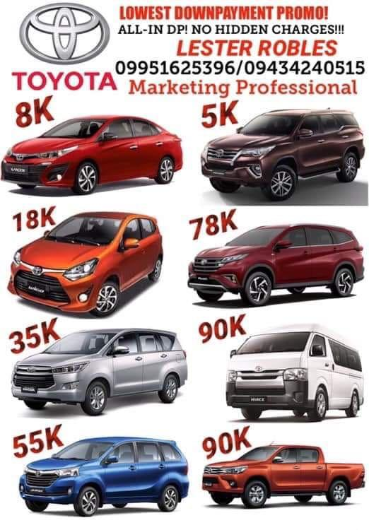 TOYOTA SUMMER PROMO! ALL IN DP! NO HIDDEN CHARGES! PM NOW💯💯💯