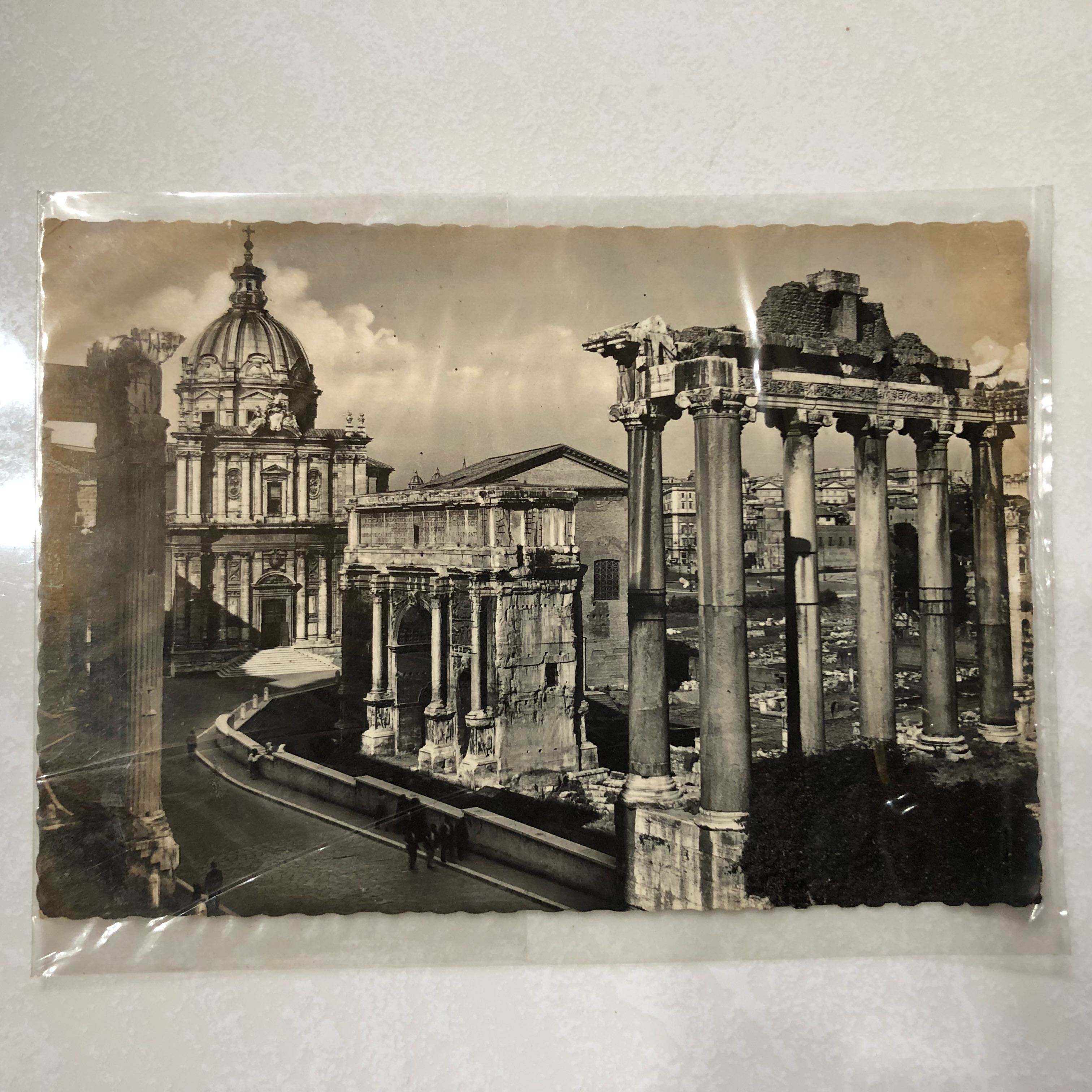 Black And White Postcard From >> Vintage Old Postcard Old Black White Post Card From Roma Italy