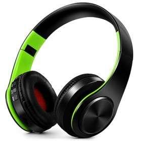 Headset bluetooth B7 black green baru