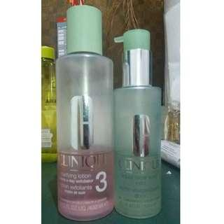 CLINIQUE FACIAL WASH DAN TONER