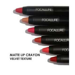 Lipstick crayon matte set isi 3 dan 3 warna