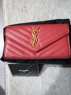 YSL Purse Red Preloved