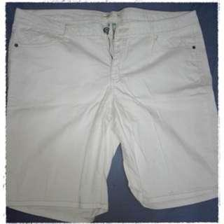Route Classic Fit White Shorts