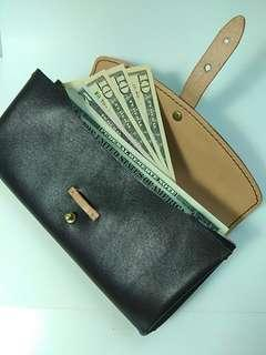 Leather wallet with coins bag 真皮長銀包