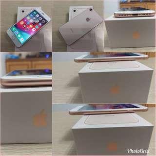 iPhone 8 (64G) 4.7吋 金色 9成新 盒裝完整