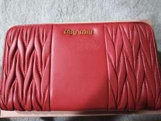 Miu Miu Red preloved wallet