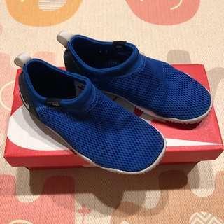 🚚 (附鞋盒) NIKE AQUA sock 小男童襪型網狀輕量懶人鞋休閒鞋 - 藍/11C