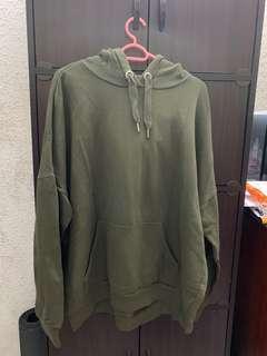 Monky oversize green hoodie