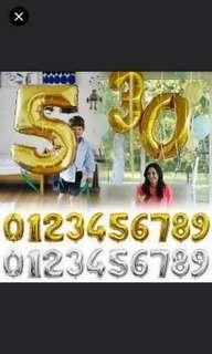 Alphabets balloons. Numbers balloons